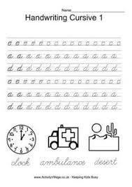 slideshow cursive handwriting practice worksheets a z 2nd