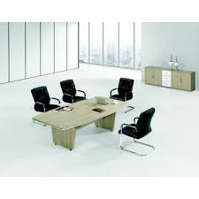 Metal Conference Table Modern Teak Wood Office Conference Table With Metal Under