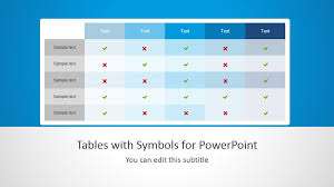 powerpoint table templates best comparison chart templates for