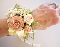prom corsage blush wrist corsage prom corsage boho wedding rustic wrist
