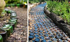bottled path interesting diy idea implant the bottles in the way