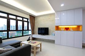 hdb 4 room standard flat 92sqm simple neat design with smoothing