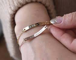 custom silver bracelets customized bracelet etsy