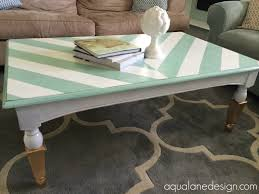 White Painted Coffee Table by Aqua And White Herringbone Coffee Table With Gold Dipped Legs