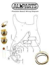 new precision bass pots wire u0026 wiring kit for fender p bass guitar