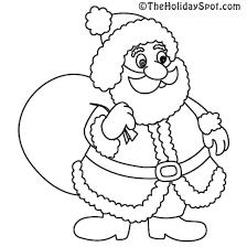 drawn santa coloring book pencil color drawn santa