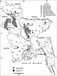 Map Of Bangladesh Generalized Geological Map Of Bangladesh Modified From Alam