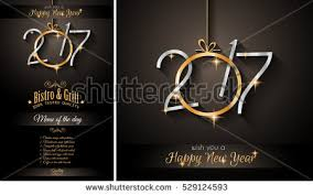 cards happy new year happy new year 2017 greeting card free vector