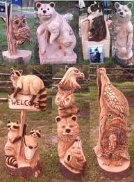large wood carvings 43 best josh landry s custom chainsaw carvings images on