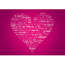 holiday wall murals holiday wall art decals stickers heart i love you wall mural