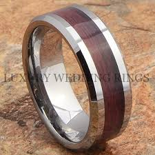 mens wedding bands wood tungsten mens ring wood wedding band bridal jewelry titanium color