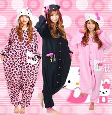 halloween party costume kawaii hello kitty cat onesie pajamas