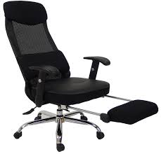 reclining office chair with footrest modern chairs design