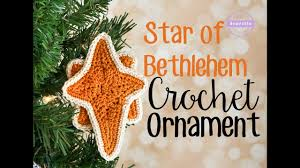 of bethlehem crochet ornament sewrella