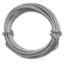 wire rope picture mirror hanging fasteners the home depot galvanized framers professional coated hanging wire