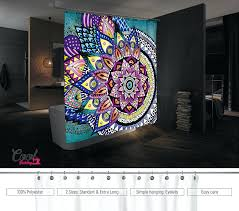 Disney Shower Curtains by Zoom Stained Glass Vinyl Shower Curtain Shower Ideas Disney