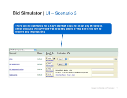 keyword bid adwords bid simulator reference guide
