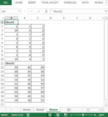 copy the usedrange of each sheet into one sheet using vba in
