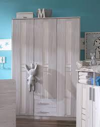 Schlafzimmerschrank Grau Kleiderschrank Weisseiche Hochglanz Grau Woody 132 01612 Modern