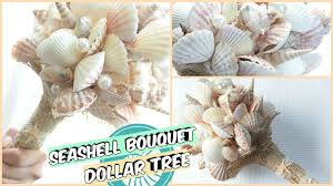 seashell bouquet dollar tree seashell bouquet tutorial d i y