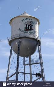 water tower tank at winter garden florida united states stock