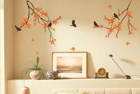 cherry blossom tree wall decal natural tree with flowers birds zoom