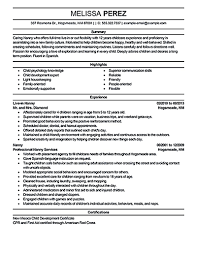 Sample Nanny Resume by Resume For Nanny Resume For Your Job Application