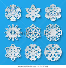 paper snowflakes set 1 vector illustration stock vector 215257453