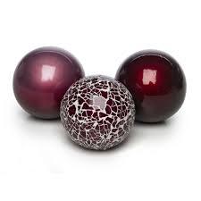 set of four ceramic balls medium