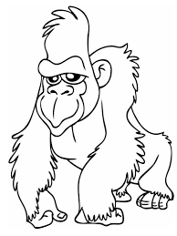 emperor tamarin coloring page gorilla coloring page jungle