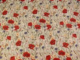 Tapestry Fabrics Upholstery Brockhall Designs Poppy Tapestry Fabric Ivory Curtains And