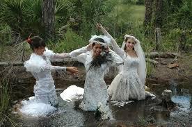the bride wore white and mud â u20ac trash the dress u0027 photo shoot