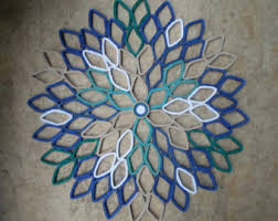 Wall Art Designs Metal Outdoor Wall Art Dahlia Wall Art In Navy