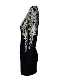 buy elegant scoop short long sleeves black homecoming dress with