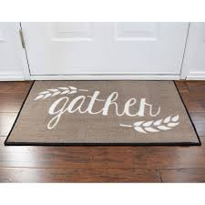 gather harvest thanksgiving welcome door mat