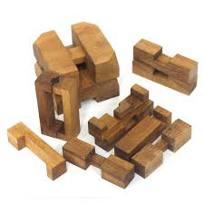 wooden puzzle passage the cube puzzle 3d brain teaser