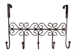 Decorative Hooks by Amazon Com Rbenxia Over The Door 5 Hanger Rack Decorative Metal