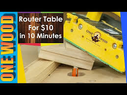 how to build a router table youtube how to build a router table for woodworking for under 10 in 10 minutes