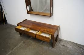 Low Console Table Rosewood Console Table With Mirror At 1stdibs Low