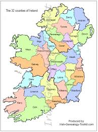 map of counties in ireland this county map of ireland shows all