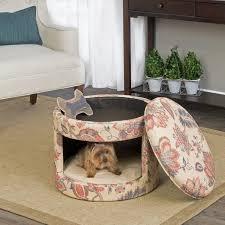 homepop casual decorative hideaway ottoman cat bed u0026 reviews wayfair