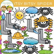 itsy bitsy spider nursery rhyme clip images illustrations