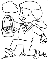 simple easter coloring pages little boy with easter egg coloring page for preschool easter