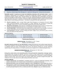 Logistic Coordinator Cv Resume Sample Logistics Resume