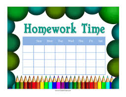 9 best images of free printable homework charts track free