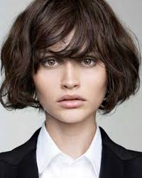 layered bob with bangs for thick hair the best short hairstyles