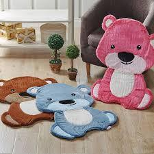 tapis ourson chambre b 60x80 cm ours en forme souple porte tapis tapis chambre de bébé