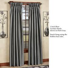 Pinch Pleat Drapes Patio Door by Marquee Flared Faux Silk Pinch Pleat Curtain Panels