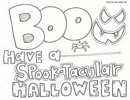 Home Design Doodle Book by Halloween Coloring Pages Doodle Art Alley
