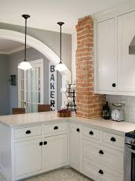 Kitchen Small Galley Kitchen Makeover With Brick by Best 25 Exposed Brick Kitchen Ideas On Pinterest Brick Wall